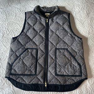 J. Crew Black Herringbone Vest